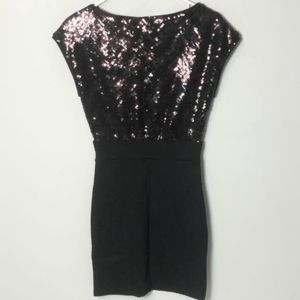H&M mini sequin dress  color is black  size 2